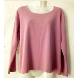 Chico's Design Women Top Size 1 S Pink Long Sleeve